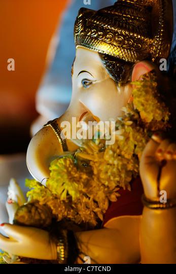 God Ganesha at Ganesh Festival, India. - Stock-Bilder
