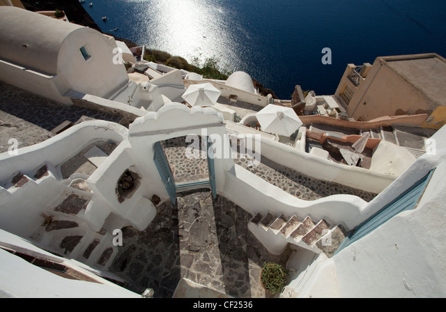 Santorini caldera aerial stock photos santorini caldera for 747 evergreen terrace