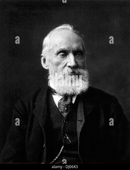 William Thomson, Lord Kelvin, 1st Baron Kelvin, British mathematical physicist and engineer. - Stock Image
