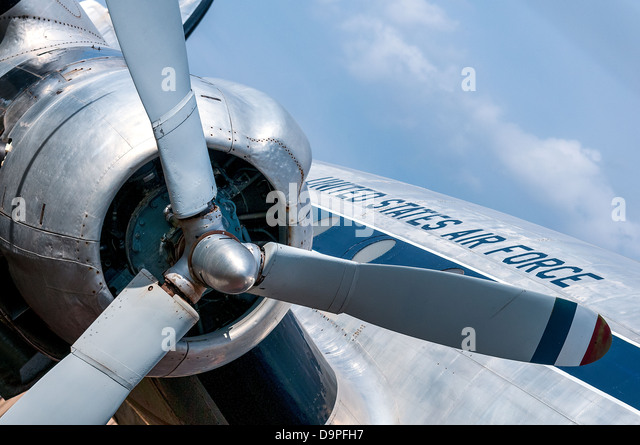 old airplaine, aviation amercica airforce - Stock Image
