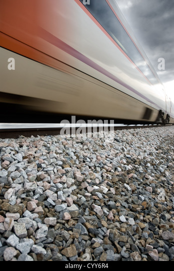 A train in movement. Speed symbol - Stock Image