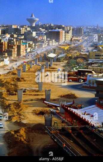 Riyadh Saudi Arabia Overview Of City - Stock Image