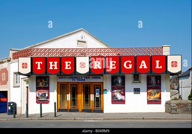 the old regal cinema at wadebridge in cornwall,england - Stock Image