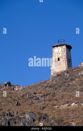 Los Roques Archipelago Venezuela Gran Roque lighthouse - Stock Image