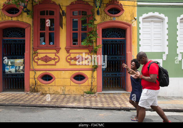 street life, the Old Town, Salvador da Bahia, Brazil - Stock Image