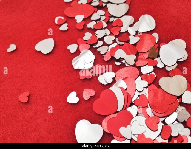 Heart shape confetti - Stock-Bilder