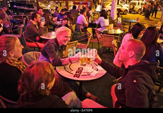 Nightlife on Foch Square. - Stock Image
