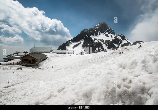 Jade Dragon snow mountain Lijiang city, Yunnan China - Stock Image