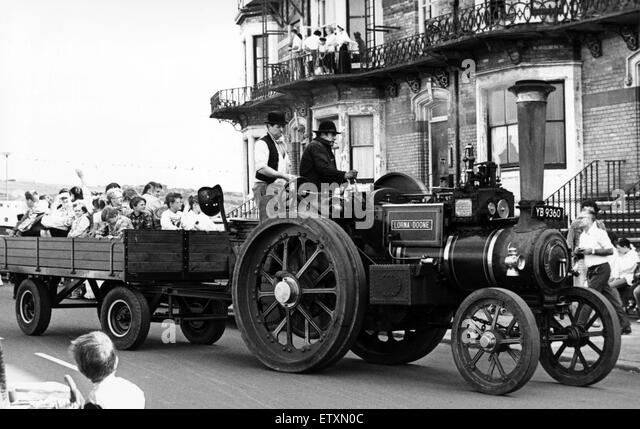 Saltburn Victorian Week. 16th August 1987. - Stock Image