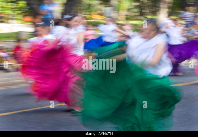 Christmas parade, San Juan, Puerto Rico - Stock Image