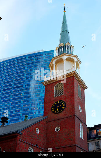 Boston old south meeting house stock photos boston old for Building a house in ma