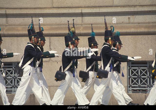 Uruguay Montevideo legislative palace guard - Stock Image