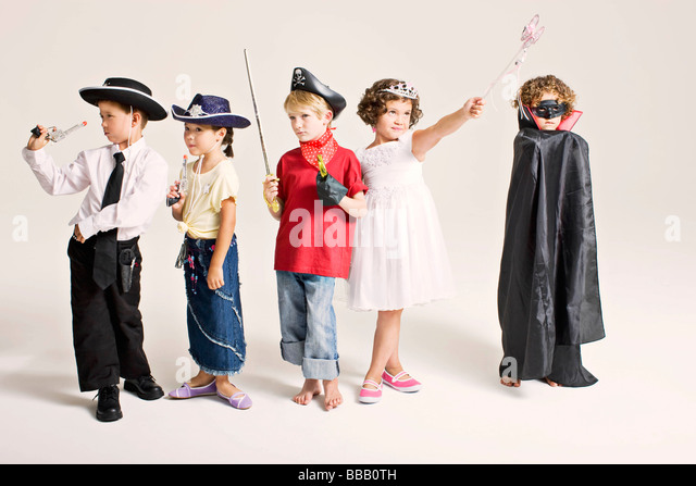 party kids in costume - Stock Image