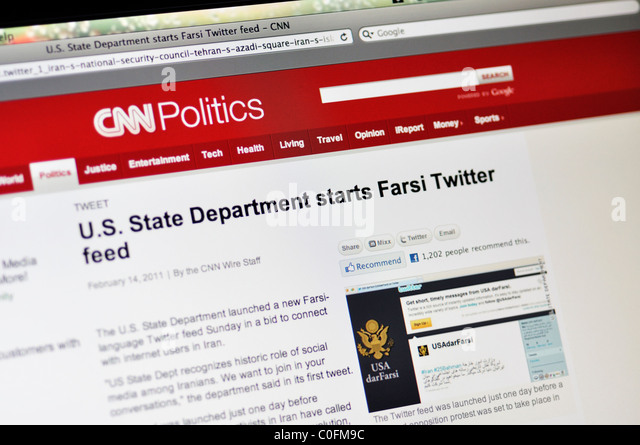 CNN Politics website - Stock Image