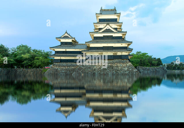 Matsumoto castle in Matsumoto, Japan - Stock Image