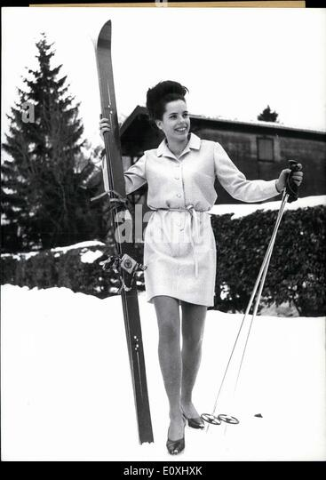 Jan. 02, 1967 - This mini-skirt doesn't allow for ski-acrobatics, - It IS, however, just right for the hours - Stock Image
