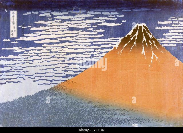 Clear weather and a southern wind, Katsushika Hokusai, 1829 - 1833 - Stock Image