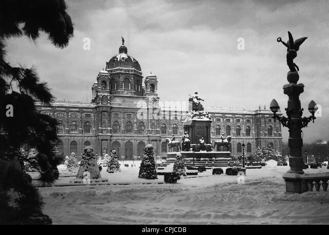 Natural History Museum in Vienna, 1938 - Stock Image
