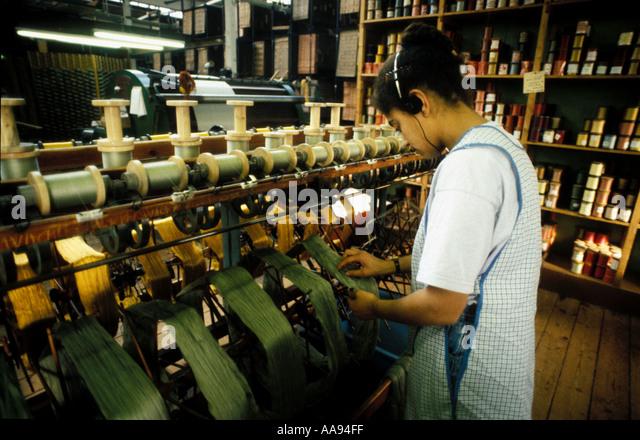 Knitting Room Birmingham : Women factory britain stock photos