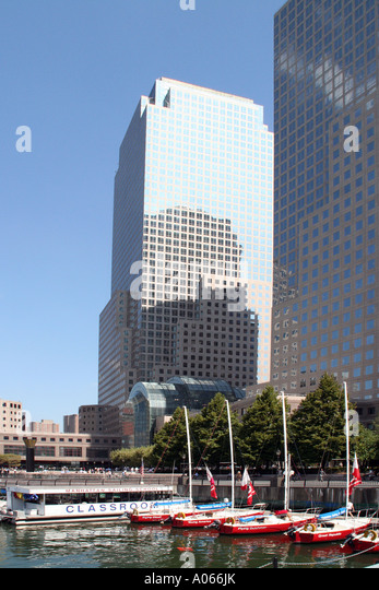 North Cove, Yacht Harbour, World Financial Center, New York - Stock Image