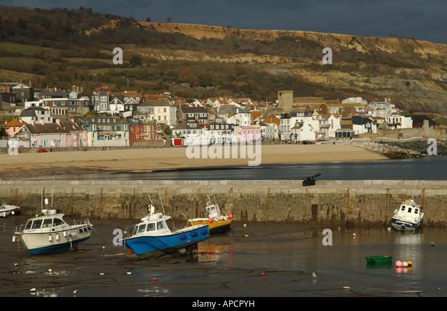 Lyme Regis Harbour Dorset England - Stock Image