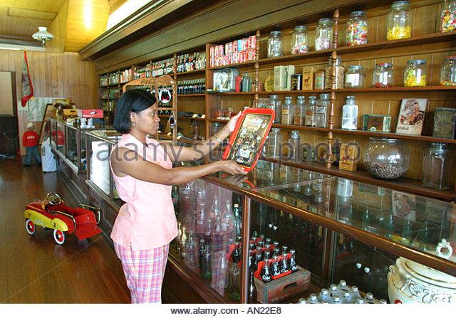 Mississippi Vicksburg Biedenharn Museum of Coca Cola Memorabilia - Stock Image