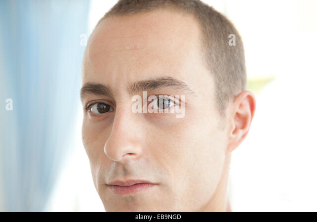 Portrait of Man, Close-up View - Stock Image