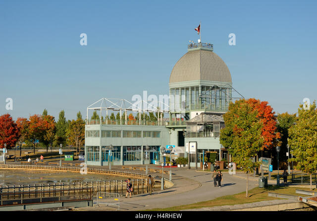 The Pavilion du bassin Bonsecours in the Old Port of Montreal or Vieux Port, Montreal, Quebec, Canada - Stock-Bilder