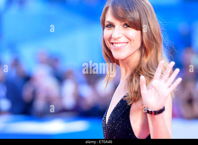Venice, Lido of Venice. 2nd Sep, 2014. Italian actress Isabella Ragonese poses on red carpet during the 71th Venice - Stock Image