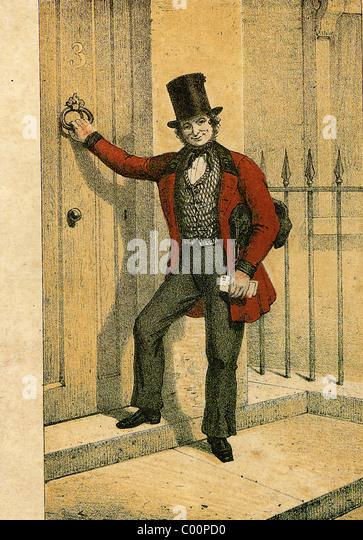 VICTORIAN POSTMAN - Stock Image