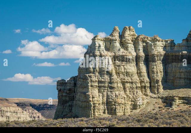 Pillars of Rome rock formation, Jordan Valley, southeast Oregon. - Stock Image