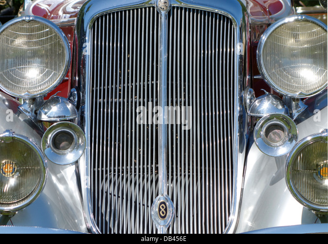 Vintage Automobile Front Center With One Headlight : Chrysler imperial stock photos