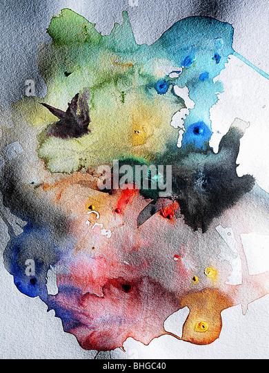 Watercolour paint - Stock Image