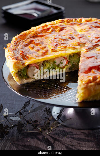 Scallop and parsley butter pie - Stock Image
