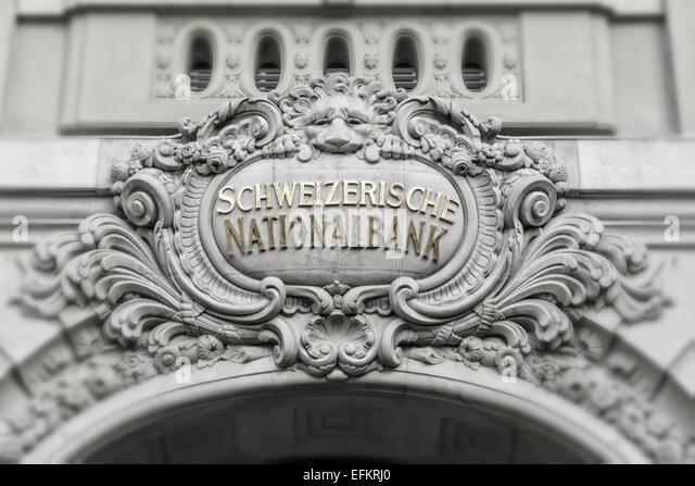 Swiss National Bank, Berne, Switzerland - Stock Image