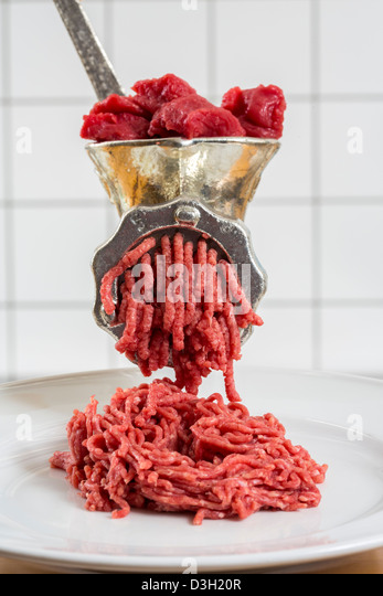 Horse meat stock photos horse meat stock images alamy for Alpine cuisine meat grinder