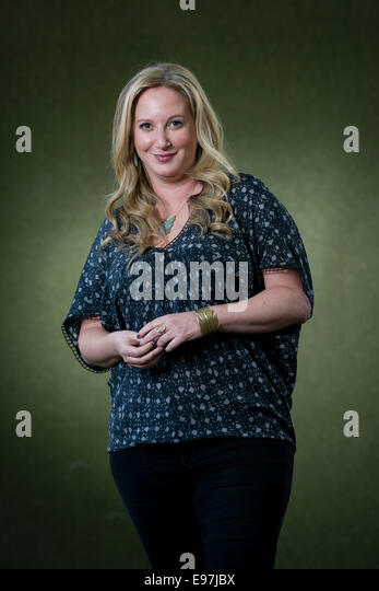 Author Leigh Bardugo appears at the Edinburgh International Book Festival. - Stock Image
