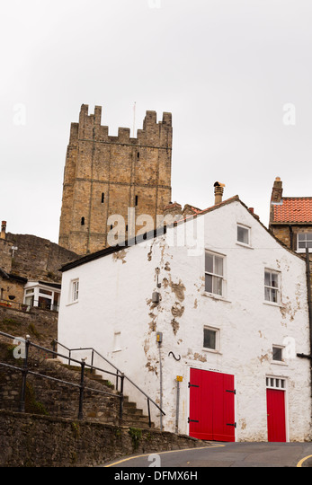 Richmond Castle from Castle Wynd. Yorkshire - Stock Image