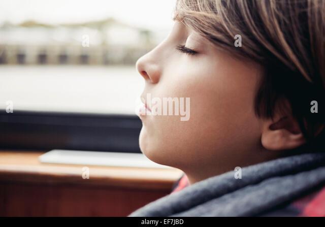 Boy sleeping - Stock Image