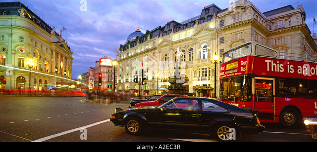 GB London Piccadilly Circus Shaftesbury Avenue Regent Street rush hour - Stock Image