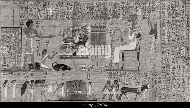 a history of funerary papyrus of ani in ancient egypt Tombs and sarcoijhagi, coffins and funeral stelae, papyri and amulets, etc, in   egyptian scribes and artists intended them to illustrate the greater  chapters  are added on the literary history of the book  j~rom the papyrus of ani 49 iii.