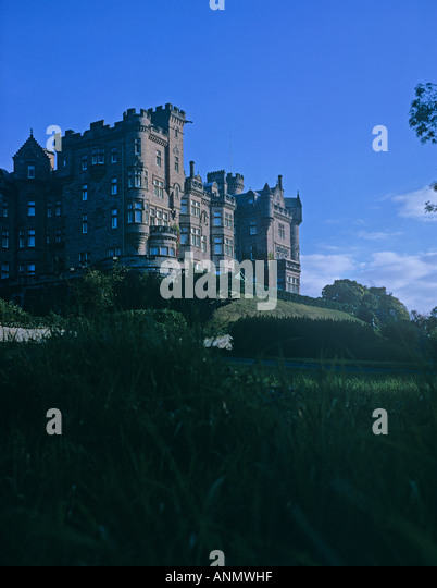 Skibo Castle haunted by a murdered woman whos screams are still heard near Dornoch on the East coast of Scotland - Stock Image