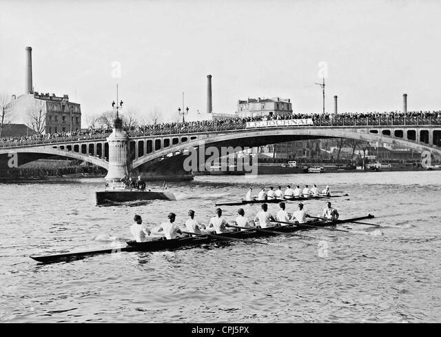 Rowing world championship on the Seine , 1937 - Stock Image