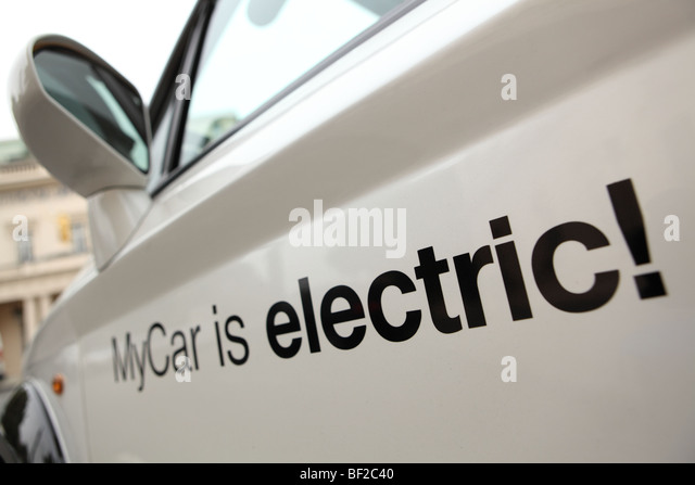 my car electric car parked in Pall Mall London - Stock Image