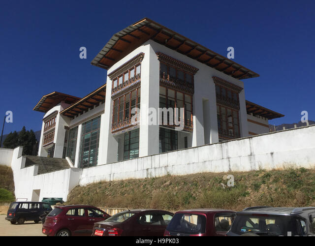 BHUTAN  National Textile Museum in the capital Thimphu. Photo Tony Gale - Stock Image