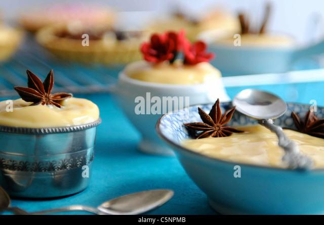 Vanilla cream (Crema pasticcera) - Stock-Bilder