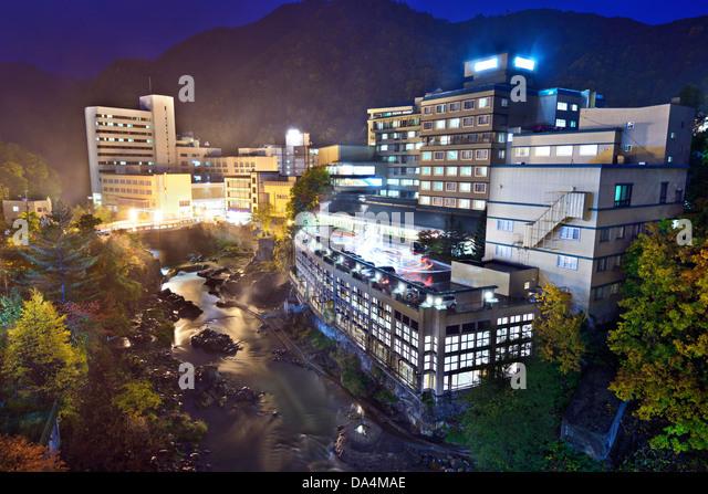 Hot Springs resort town of Jozankei, Hokkaido, Japan. - Stock-Bilder