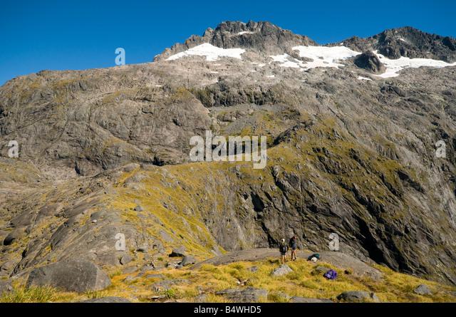 At the Gertrude Saddle, near Milford Sound, Fjordland, South Island, New Zealand - Stock Image