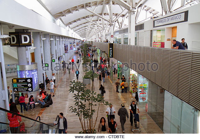 Mexico Mexico City DF D.F. Ciudad de México Federal District Distrito Federal Benito Juarez International Airport - Stock Image