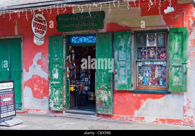 Reverand Zombie's Voodoo House, New Orleans - Stock Image